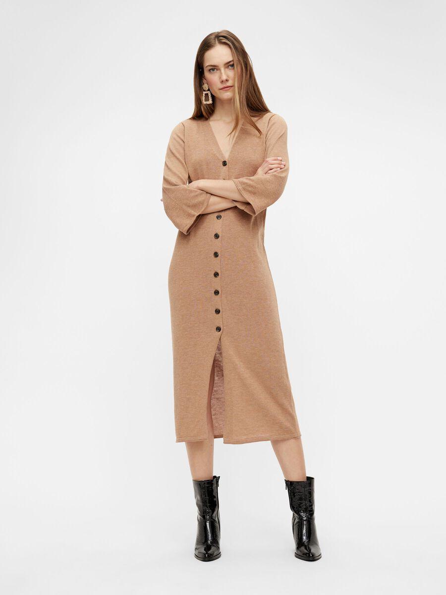 Y.A.S YASRIA KNITTED DRESS, Tan, highres - 26024223_Tan_003.jpg