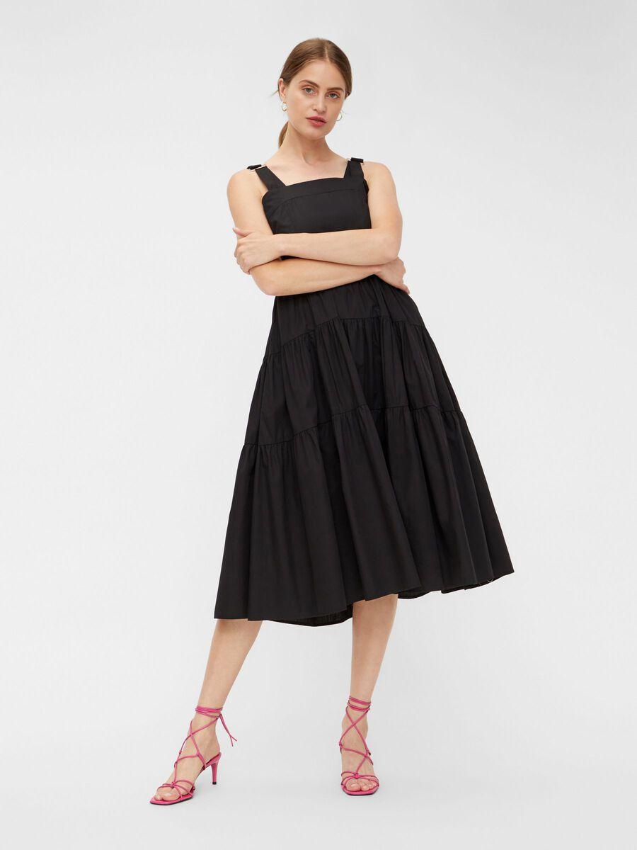 YASTHEA STRAP DRESS, Black, highres