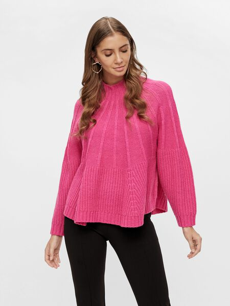 YASMAGENTA KNITTED PULLOVER