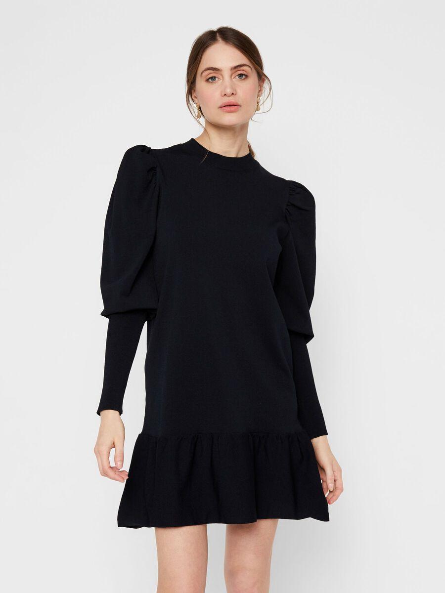 YASINES KNITTED DRESS, Black, highres