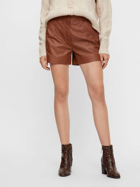 YASVENNA LEATHER SHORTS