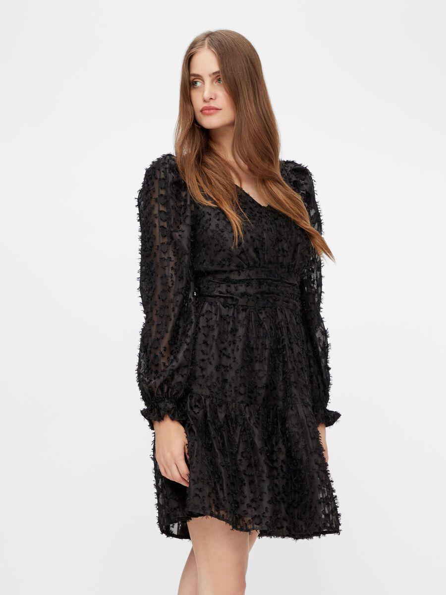 YASVIVIAN LONG SLEEVED DRESS, Black, highres
