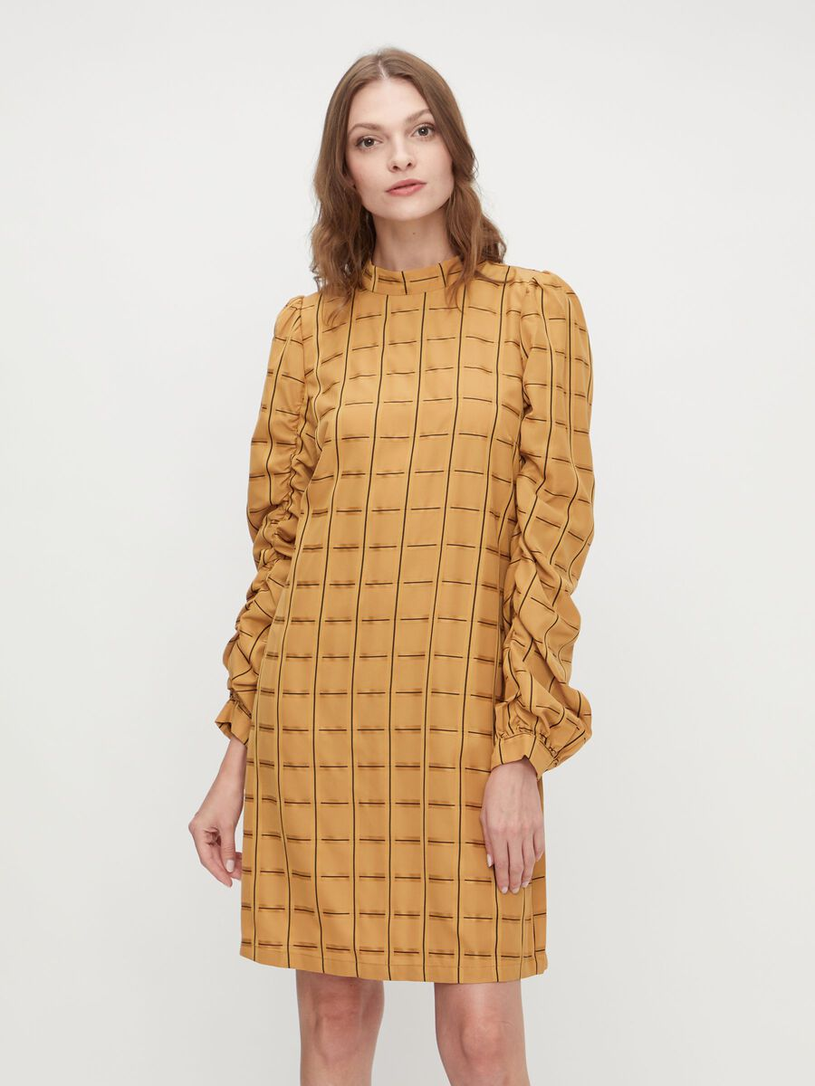 Y.A.S YASANISE LONG SLEEVED DRESS, Golden Yellow, highres - 26023365_GoldenYellow_852859_003.jpg