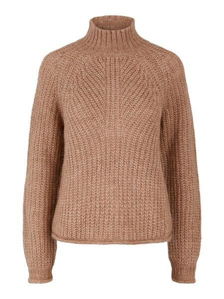Y.A.S YASLAVA KNITTED PULLOVER, Indian Tan, highres - 26024327_IndianTan_001.jpg