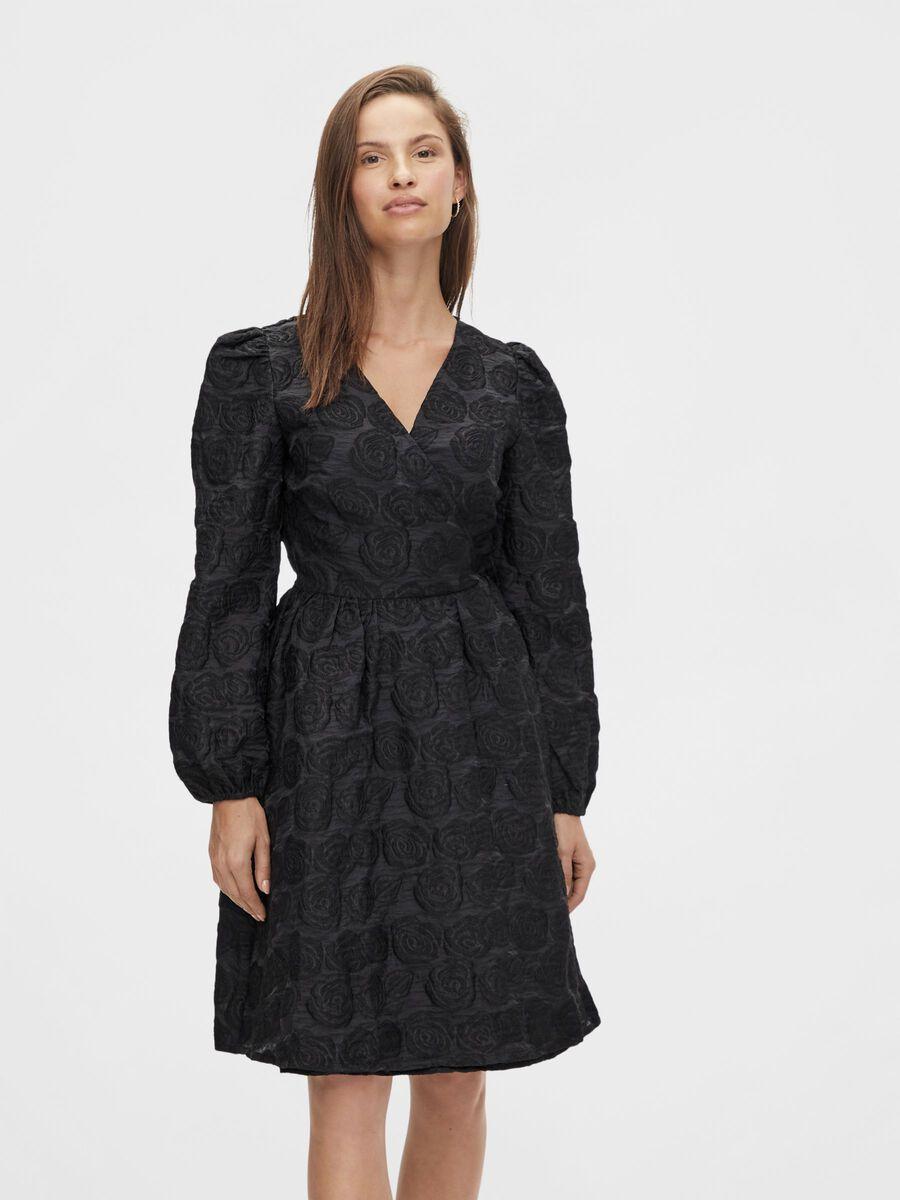 Y.A.S YASBIRDIE WRAP DRESS, Black, highres - 26024871_Black_003.jpg