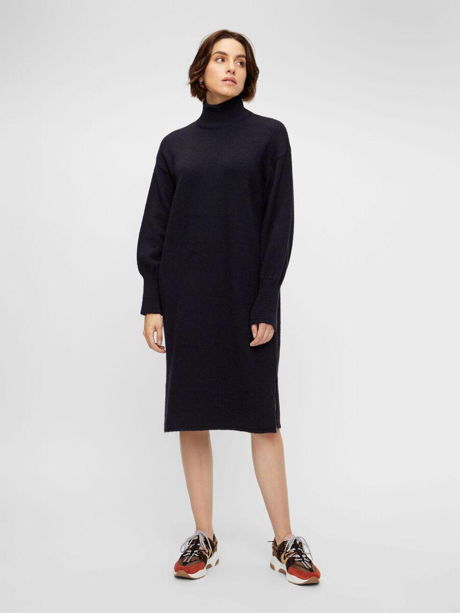 Y.A.S YASNINA KNITTED DRESS, Navy Blazer, highres - 26022473_NavyBlazer_003.jpg