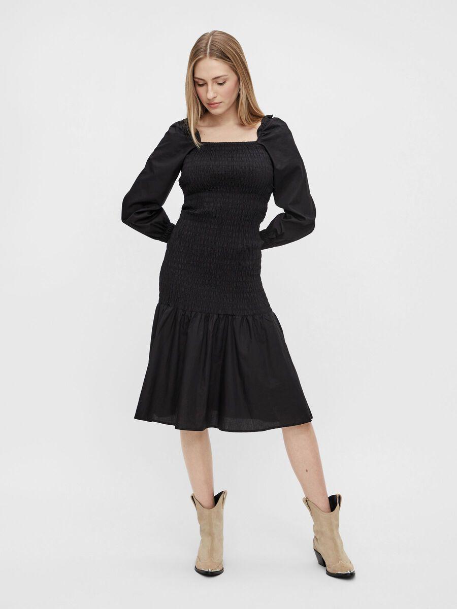 YASBELIA MIDI DRESS, Black, highres