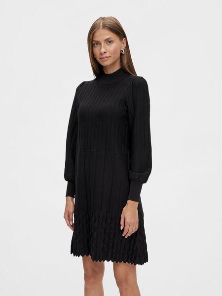 Y.A.S YASVIGSA KNITTED DRESS, Black, highres - 26025503_Black_003.jpg