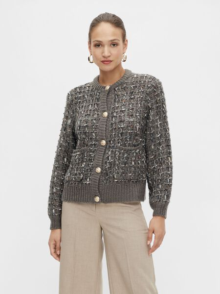 Y.A.S YASEPICA KNITTED CARDIGAN, Vetiver, highres - 26025154_Vetiver_892236_003.jpg