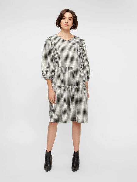 YASCHECKY MIDI DRESS