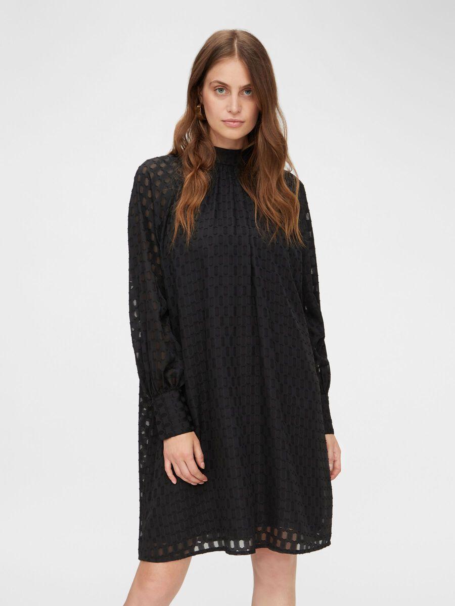 Y.A.S YASLARASSA LONG SLEEVED DRESS, Black, highres - 26021211_Black_003.jpg