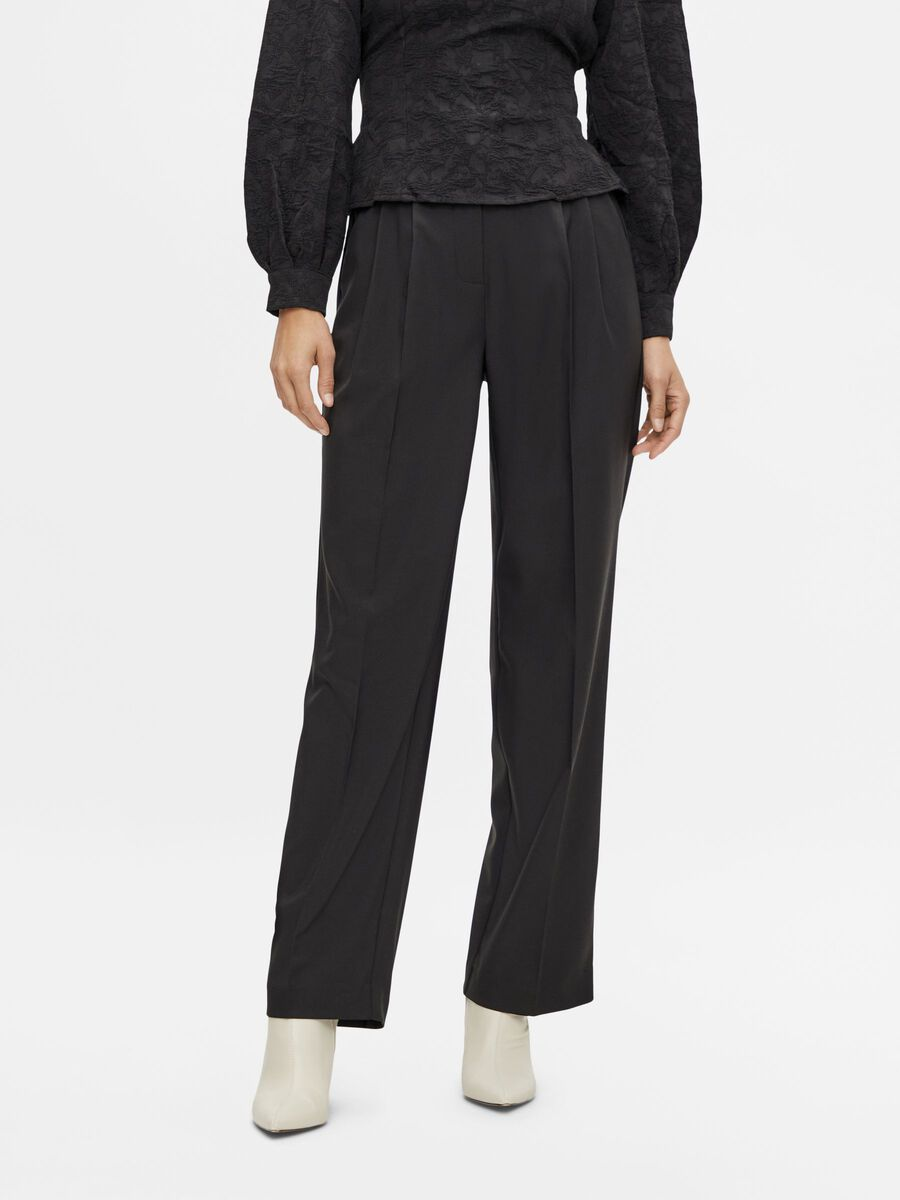 Y.A.S YASFRENCHY HIGH WAISTED TROUSERS, Black, highres - 26024637_Black_003.jpg