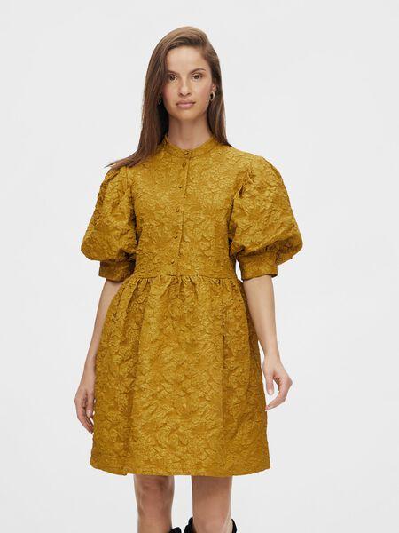 Y.A.S YASKOMMA SHORT DRESS, Dried Tobacco, highres - 26025136_DriedTobacco_003.jpg