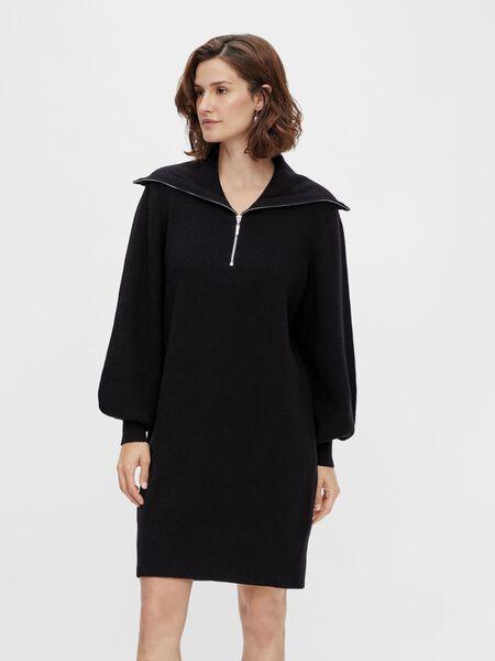 Y.A.S YASDALMA KNITTED DRESS, Black, highres - 26024412_Black_003.jpg
